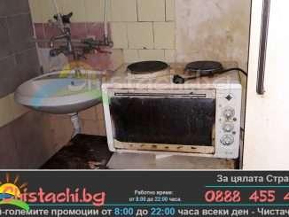 Хамалска бригада изхвърля техника и мебели в Пловдив