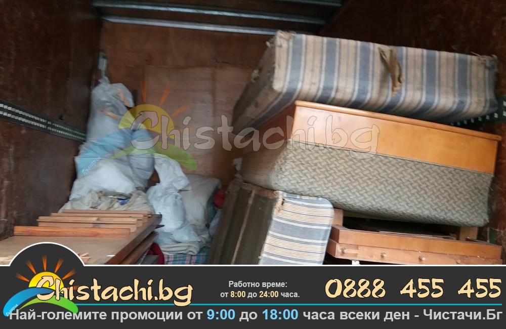 Изнасяне извозване стари мебели и обзавеждане Шумен
