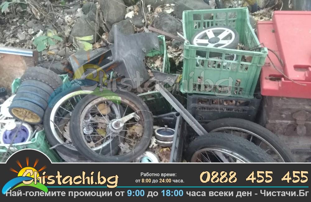 Изхвърляне на стари автомобилни гуми в страната