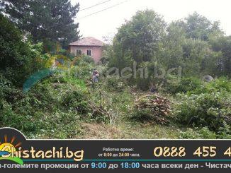 Почистване на терени от дървета и храсти София